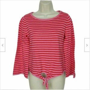 J Crew Womens Front Tie Sweater Size XS Red Pink S